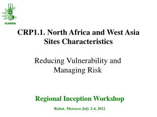 CRP1.1. North Africa and West  Asia Sites Characteristics