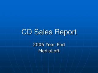 CD Sales Report