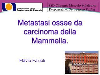 Metastasi ossee da  carcinoma della Mammella.