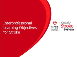 Interprofessional Learning Objectives for Stroke