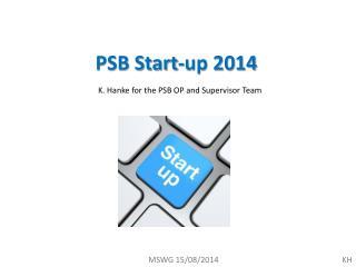 PSB Start-up 2014