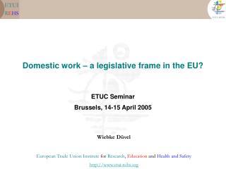 Domestic work – a legislative frame in the EU?