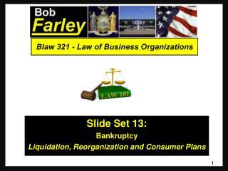 Slide Set 13 : Bankruptcy Liquidation, Reorganization and Consumer Plans
