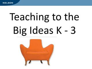 Teaching to the  Big Ideas K - 3