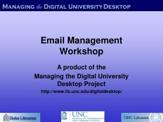 Email Management Workshop