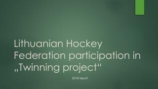 A Model Hockey Program  a work in progress