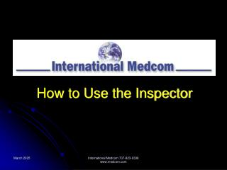 How to Use the Inspector