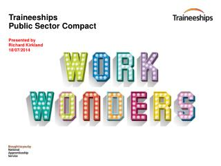 Traineeships Public Sector Compact