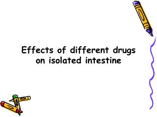 Effects of different drugs on isolated intestine