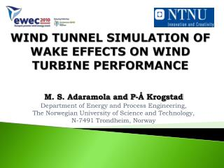 WIND TUNNEL SIMULATION OF WAKE EFFECTS ON WIND TURBINE PERFORMANCE