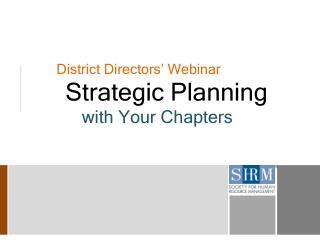 District Directors' Webinar