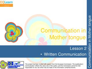 Communication in Mother tongue