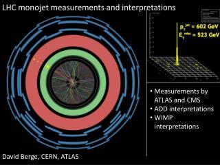 LHC  m onojet measurements and interpretations