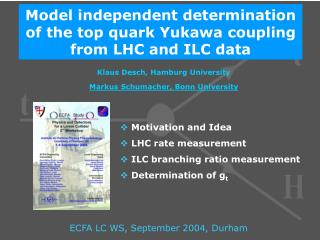 Model independent determination of the top quark Yukawa coupling from LHC and ILC data
