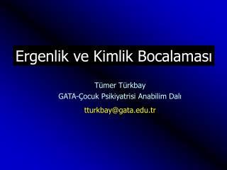 Tümer Türkbay GATA-Çocuk Psikiyatrisi Anabilim Dalı tturkbay@gata.tr