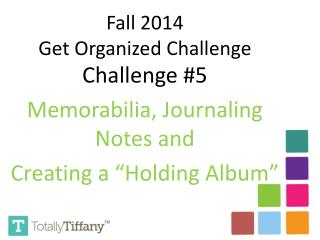 """Challenge #5 Memorabilia, Journaling Notes and  Creating a """"Holding Album"""""""