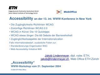 Accessibility an der 13. int. WWW-Konferenz in New York
