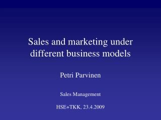 'Business Model Evolution'
