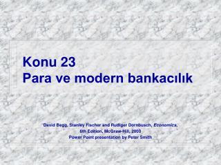 Konu  23 Para ve modern bankacılık