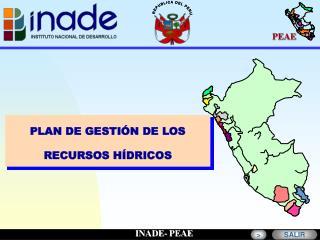 PLAN DE GESTIÓN DE LOS RECURSOS HÍDRICOS