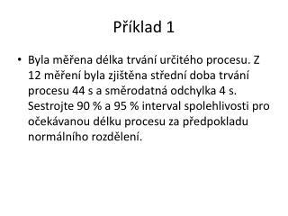 P říklad  1