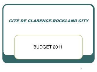 CITÉ DE CLARENCE-ROCKLAND CITY