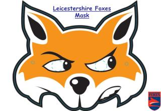 Leicestershire Foxes Mask