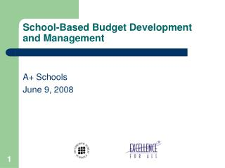 School-Based Budget Development and Management