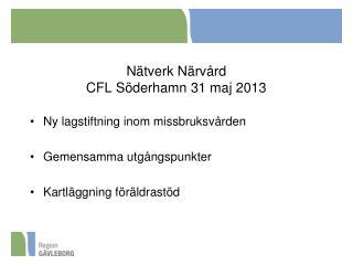 Nätverk Närvård CFL Söderhamn 31 maj 2013