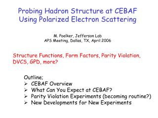 Probing Hadron Structure at CEBAF Using Polarized Electron Scattering