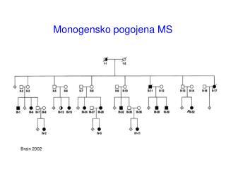 Monogensko pogojena MS