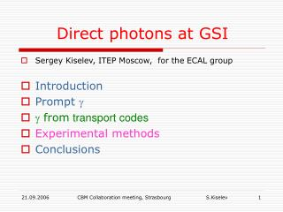 Direct photons at GSI