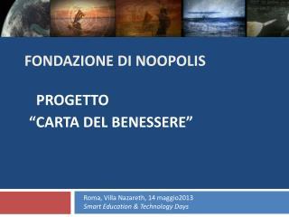 FONDAZIONE  DI  NOOPOLIS