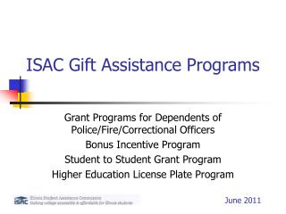 ISAC Gift Assistance Programs