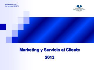 Marketing y Servicio al Cliente 2013