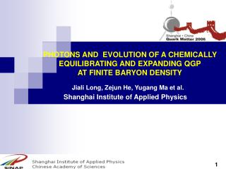 PHOTONS AND  EVOLUTION OF A CHEMICALLY EQUILIBRATING AND EXPANDING QGP  AT FINITE BARYON DENSITY