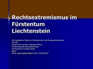 Rechtsextremismus im Fürstentum Liechtenstein