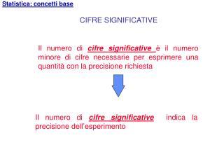 Il numero di  cifre significative  indica la precisione dell'esperimento