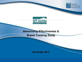 Advertising Effectiveness & Brand Tracking Study  November 2013