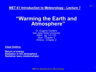 MET 61 Introduction to Meteorology - Lecture 7