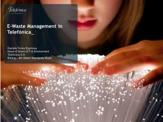 E- Waste  Management in Telef�nica _