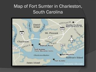 Map of Fort Sumter in Charleston,  South  Carolina