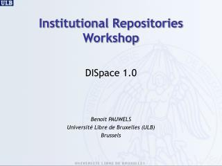 Institutional Repositories  Workshop