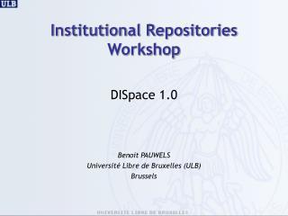 Institutional Repositories  Workshop