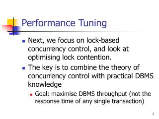 Performance Tuning