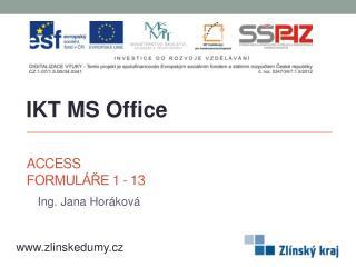 Access Formuláře 1 - 13