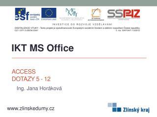 Access Dotazy 5 - 12