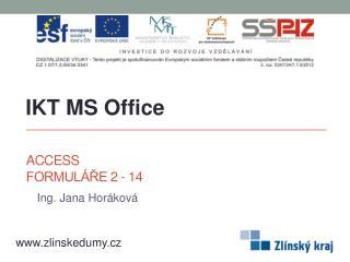 Access Formuláře 2 - 14