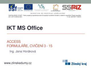 Access Formuláře, cvičení 3 - 15