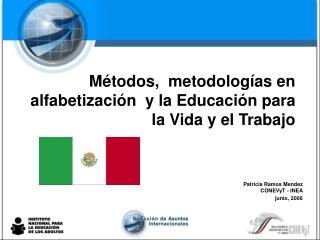 Métodos,  metodologías en  alfabetización  y la Educación para la Vida y el Trabajo